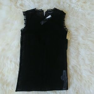 Dolce & Gabbana Sleeveless sheer blouse.